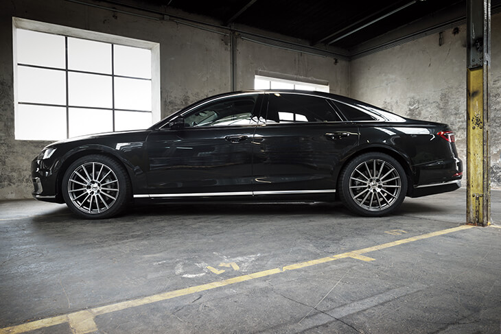 Audi A8 side on AEZ Steam