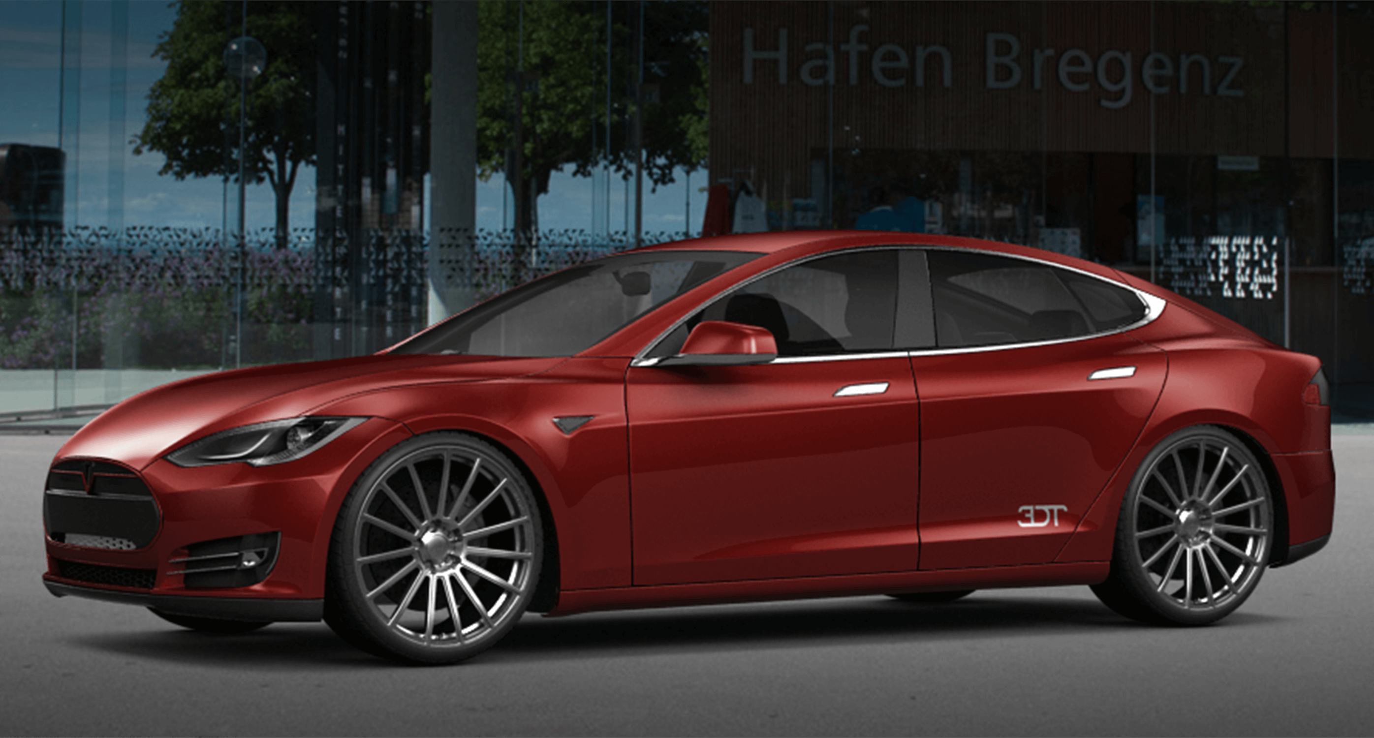 Tesla Model S on AEZ Steam.Forged - 3D-Configurator