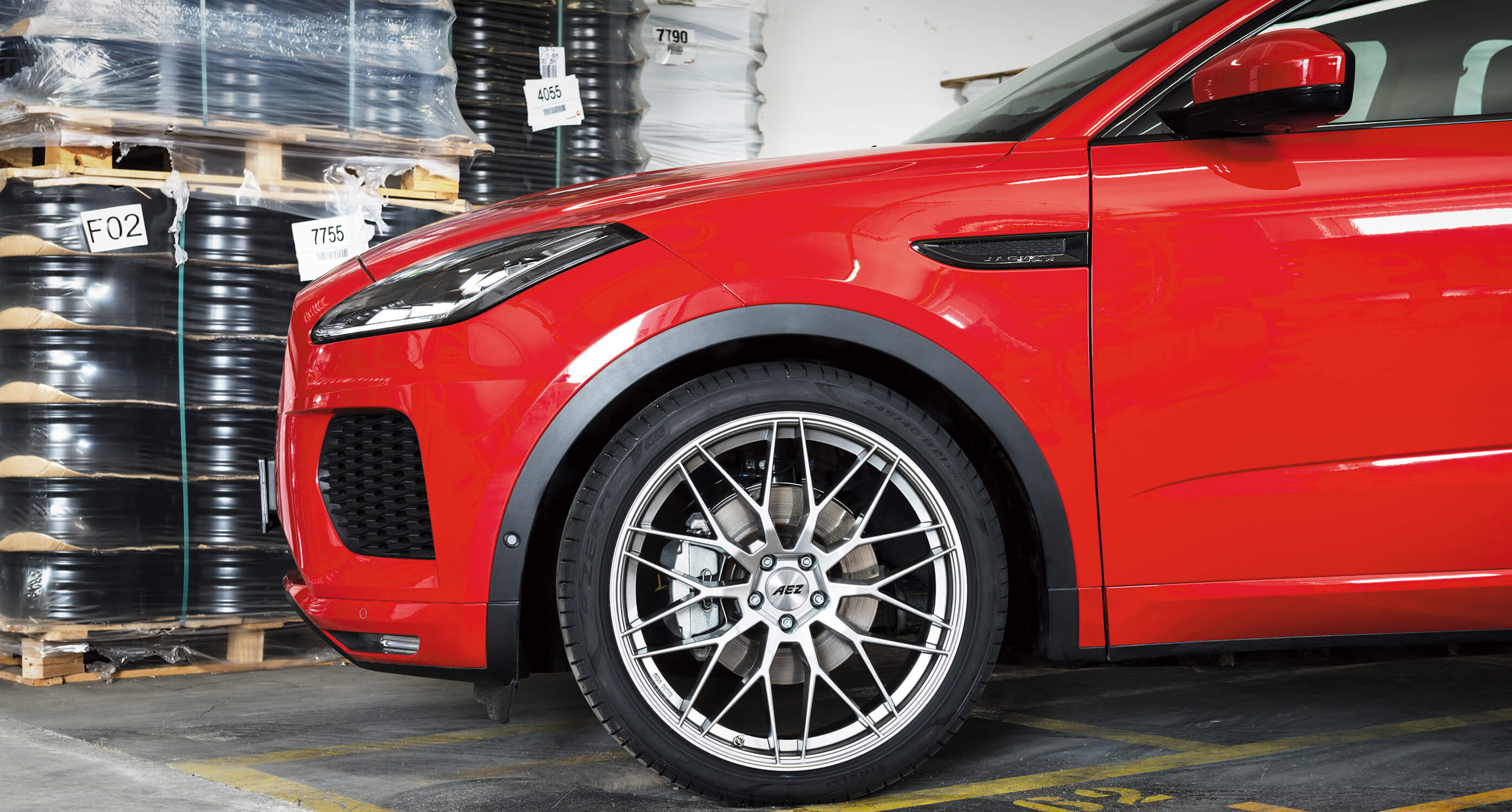 The new Jaguar E-Pace on AEZ Crest - Wheel Detail Shot