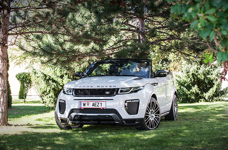 AEZ Strike Felge on Range Rover Evoque Cabrio