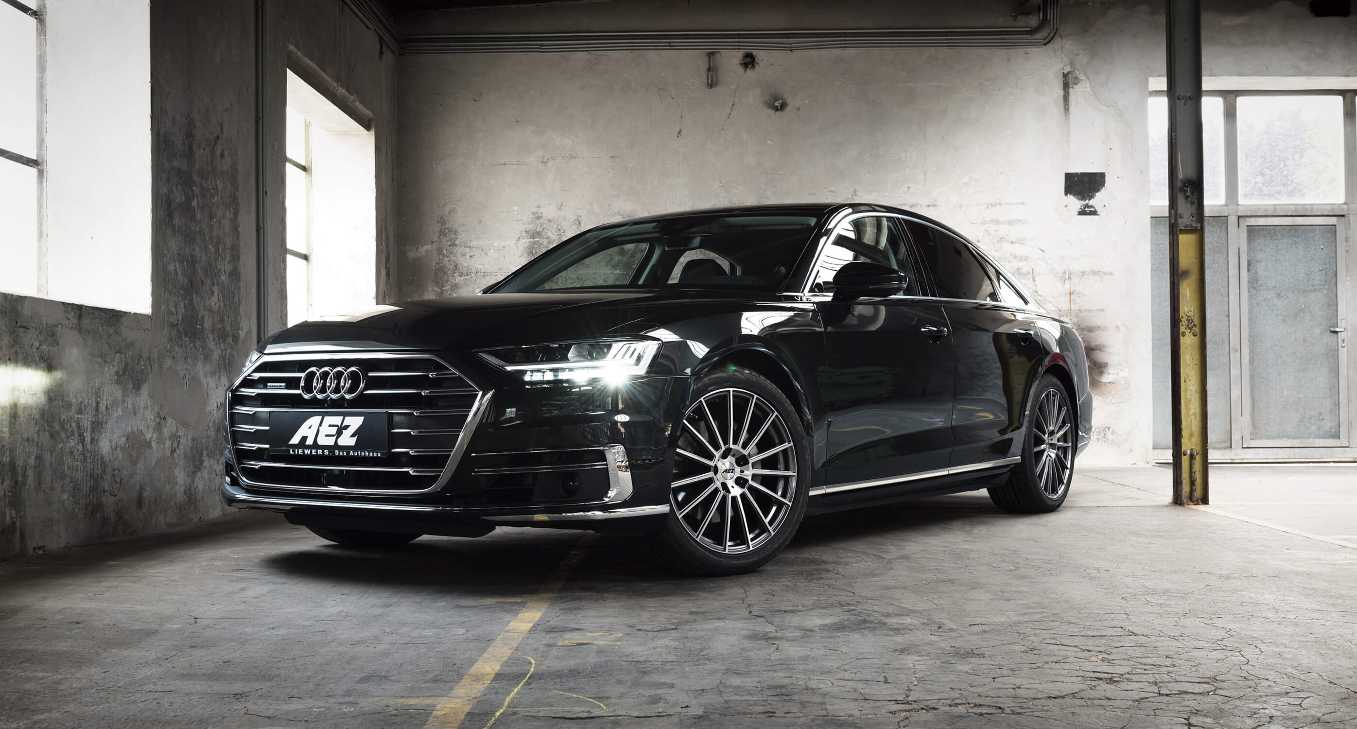 The new Audi A8 on AEZ Steam
